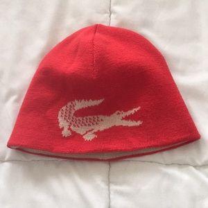Unisex Lacoste winter knit hat - reversible!